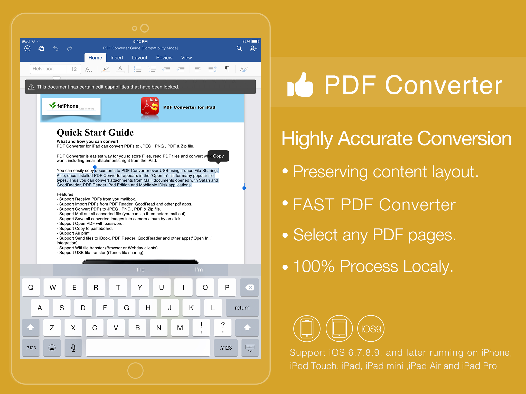 Pdf To Converter For Iphone Ipad And Other Ios Devices