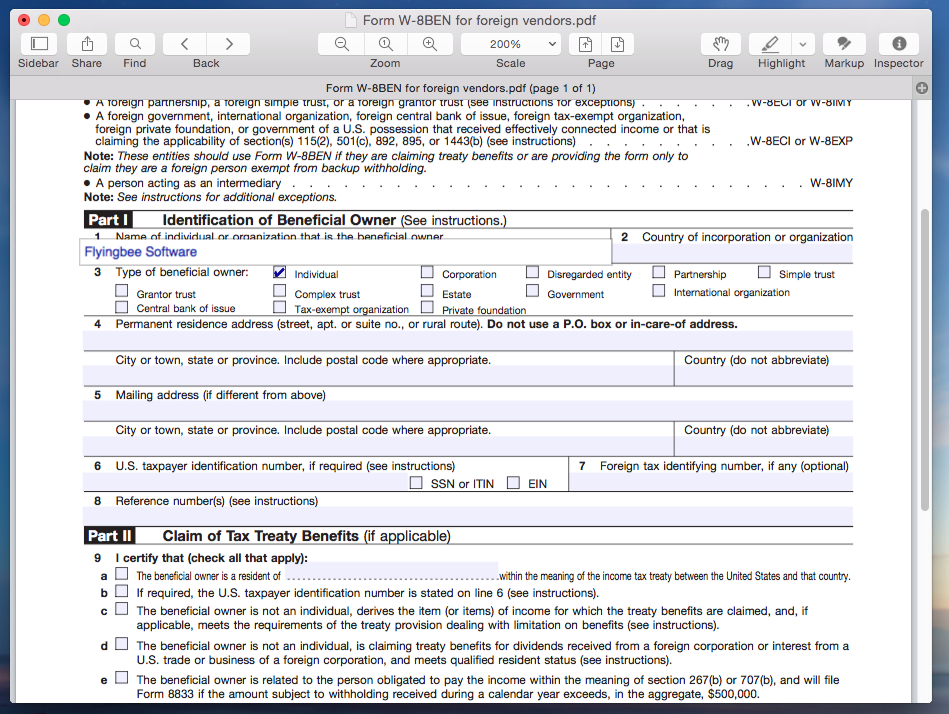 How To Fill In Pdf Forms On Mac With Flyingbee Reader Flyingbee