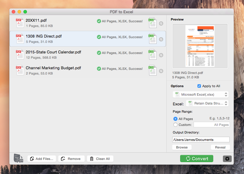 how to open excel files on mac for free