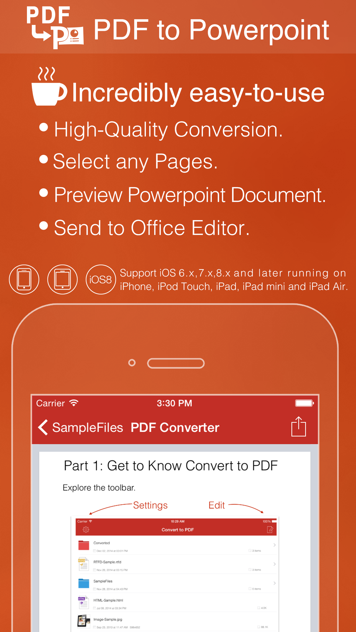 PDF to Powerpoint for iPhone, iPad and other iOS devices - Convert