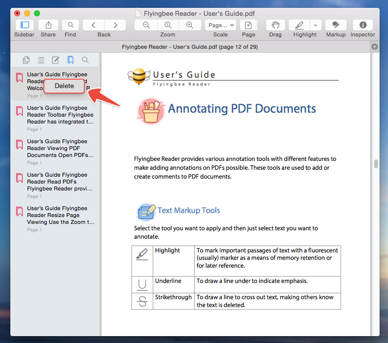 How to Create Bookmarks to A PDF File in Flyingbee Reader