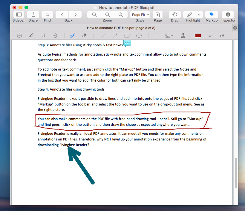 How to annotate pdf files on mac flyingbee software support how to annotate pdf files on mac annotate files using drawing tools ccuart Choice Image